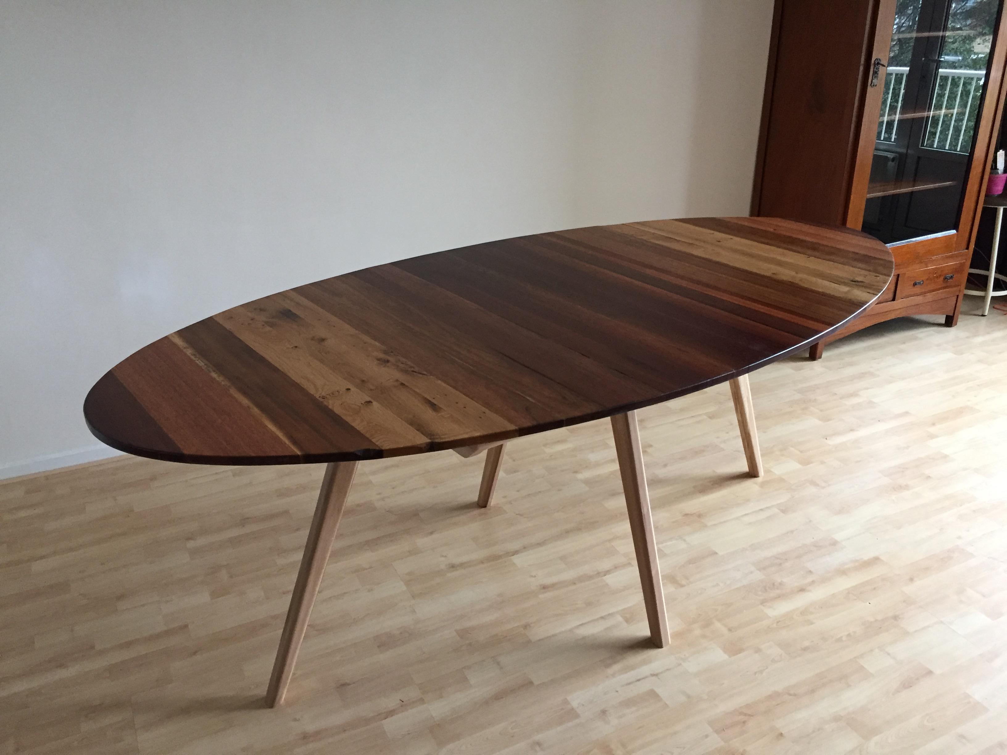Handgemaakte ovale tafel op maat met veel keuzemogelijkheden